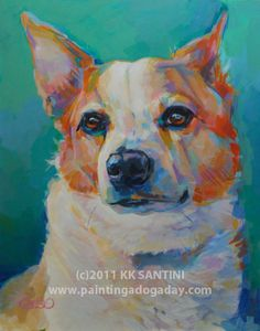 Mr Percival by Kimberly Kelly Santini of Painting a Dog a Day - pet portraits!