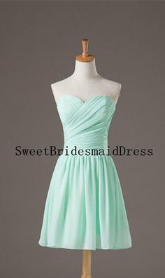 Mint Strapless Sweetheart Ruffles by SweetBridesmaidDress on Etsy, $68.00