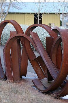 beauti sculptur, garden art