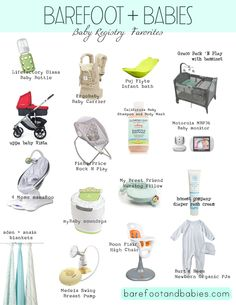 Barefoot and Babies' Blog - Baby Registry Favorites Items real life Mamas swear by. This is a great little cheat sheet. Follow the instagram- @barefoot_and_babies #babyregistery #cheatsheet #momblog
