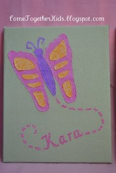 Come Together Kids: TUTORIALS  Footprint Butterfly Canvas