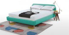 { Inspiration } Les meubles design et abordables de Made.com à découvrir sur decocrush.fr #bedroom #bed #turquoise #happy #living