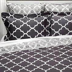 Our charcoal Mimosa Reversible Bedding is the perfect bedroom foundation. $39.95 - $169.95