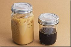 Cuppow Lids. Turn a mason jar into a travel mug. How did someone not think of this when the whole super trendy travel cup thing started? Why do I not have one of these lids...