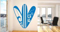 Hawaii surfboard wall decal