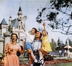 It's huge smiles all around when the 1950s family heads to Disneyland.