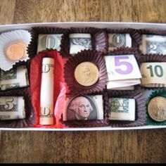 Hmm...cute gift idea for graduates or birthdays. You could also put some gift cards in there. And lots of quarters for a high school grad!