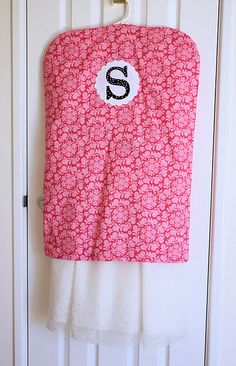 Hanging Clothes Dust Cover tutorial by A Spoonful of Sugar #sew #diy