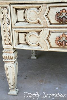 Thrifty Inspirations: ASCP Knock-Off Painted Table -
