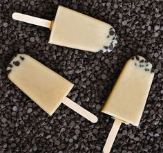 Chocolate Chip Cookie Dough Popsicles!