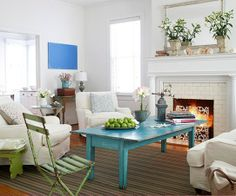 decor, coffee tables, idea, living rooms, fireplac