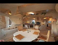 "Dick Clark has listed his Malibu, Calif. home for 3.5 million, according to Trulia. The home looks resembles the homes featured on the ""Flintstone"" cartoon series"