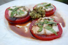 Salad Inspiration salad recipes, pesto recipes, real foods, fun recip, pita, panini sandwiches, capres salad, salads, basil