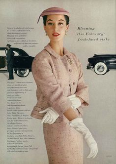 Vogue 1953 by John Rawlings. I like how the gloves and hat complete the look.