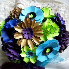 Peacock Inspired Wedding Bouquet