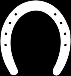 Horse Shoe Outline clip art - vector clip art online, royalty free  public domain