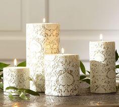 Florentine Deer Pillar Candles