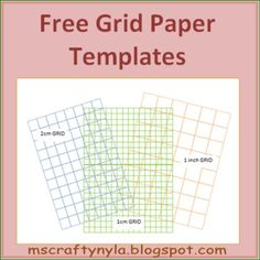 Free Grid Paper Templates #math