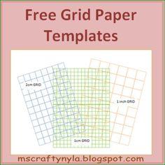 Free Grid Paper Templates #math