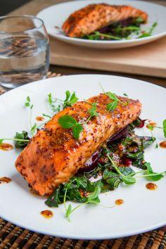 Maple-Miso Dijon Salmon