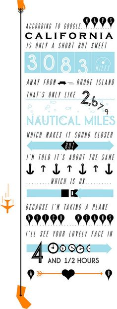 Sweet poster about a long distance relationship
