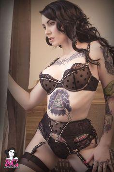 tattoo idea, super sexi, lush lingeri, suicidegirl tattoo, tattoo girl