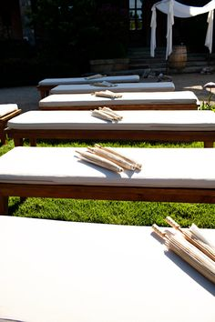 Ceremony bench seating
