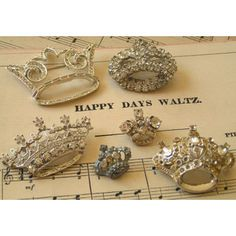 Nice collection of crown brooches
