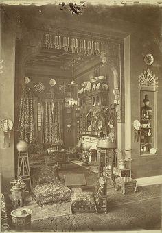 Cairo. Egyptian Home (Interior). taken 1800s