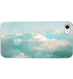 clouds, iphone cases, iphone 4s, cloud sky, aqua blue, heaven, iphon case, blue white, blues