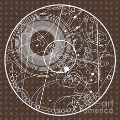 Ten Tie Gallicush Circular - Brown Print by ©ifourdezign - #DoctorWho #Gallifreyian #Abstract #DigitalArt #Geometry #FineArtAmerica (Please retain ALL credit - TY)