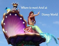 Here's where to see Ariel at Disney World - See: http://www.buildabettermousetrip.com/princess-ariel-at-disney-world #Ariel #Disneyprincesses #DisneyWorld #LittleMermaid