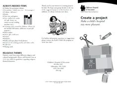 Children's Hospital of Wisconsin Project Ideas