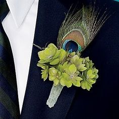 #Peacock #boutonniere