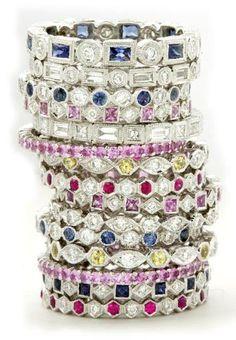 Stacking wedding / anniversary rings