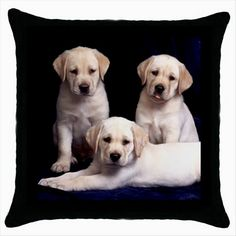 THREE LABRADORS Black Cushion Cover Throw Pillow Case Gift http://stores.shop.ebay.co.uk/giftbazaar