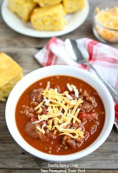 Dad's Spicy Chili Recipe on twopeasandtheirpod.com My dad's famous chili recipe! Everyone loves his chili!