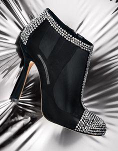 OSCAR DE LA RENTA shoes fashion shoes, la renta, de la, girl fashion, ankle boots, woman shoes, swarovski crystals, girls shoes, oscar de