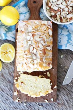Yumm! Twopeasandtheirpod's lemon almond bread recipe looks amazing!