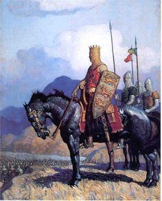 Edward I hors, art museum, heart, king arthur, ncwyeth, illustrators, lions, children books, knight