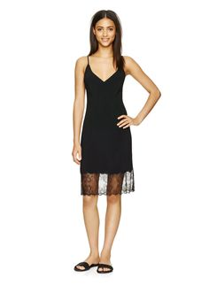 WILFRED MOULIN DRESS - A simple and sexy slip dress with beautifully delicate lace trim