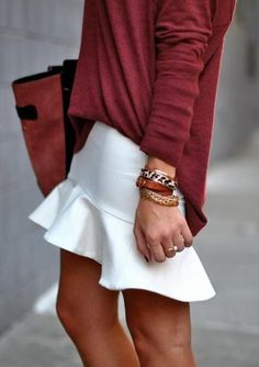 Tendencia: Trumpet Skirt - Cranberry Chic