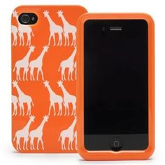 mobile phones, iphone cases, iphone 4s, orang, iphon case, spade iphon, phone covers, kate spade, giraffes