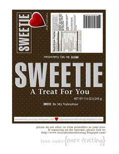 Candy bar wrapper valentine printable