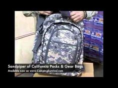 Sandpiper of California Bug Out Bag Review & Demonstration from Camping Survival