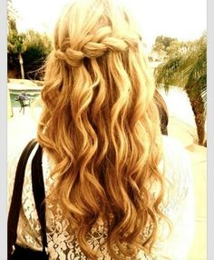 Love this waterfall braid!