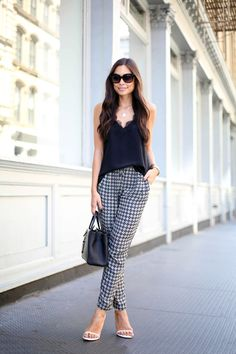Printed Silk Pants and Fendi 2jours.