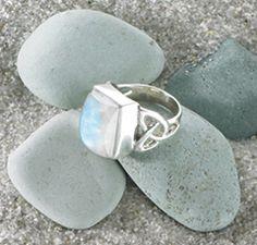Moonstone Trinity Knot Ring