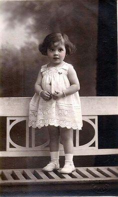 Vintage Postcard little girl
