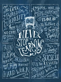 Anyone who stops learning IS OLD. A geriatric adult told me this a few weeks ago. Never stop learning!